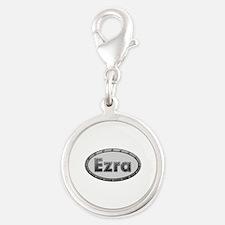 Ezra Metal Oval Silver Round Charm