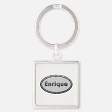 Enrique Metal Oval Square Keychain