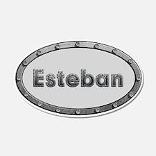 Esteban Metal Oval Wall Decal