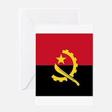 Flag of Angola Greeting Cards