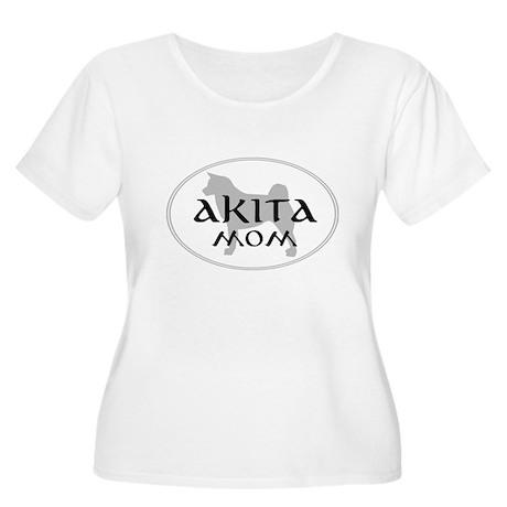 Akita Mom Women's Plus Size Scoop Neck T-Shirt