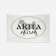 Akita Mom Rectangle Magnet