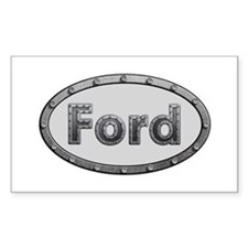Ford Metal Oval Rectangle Decal