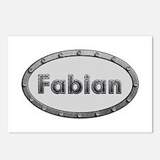 Fabian Metal Oval Postcards 8 Pack