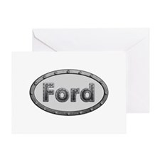 Ford Metal Oval Greeting Card