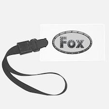 Fox Metal Oval Luggage Tag