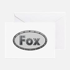Fox Metal Oval Greeting Card 20 Pack