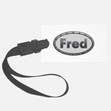 Fred Metal Oval Luggage Tag
