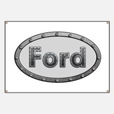 Ford Metal Oval Banner