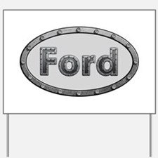Ford Metal Oval Yard Sign