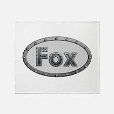 Fox Metal Oval Throw Blanket