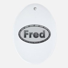 Fred Metal Oval Oval Ornament