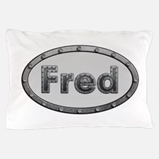 Fred Metal Oval Pillow Case