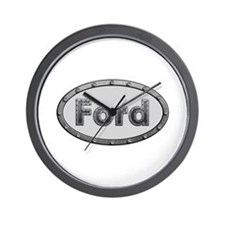 Ford Metal Oval Wall Clock