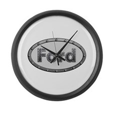 Ford Metal Oval Large Wall Clock