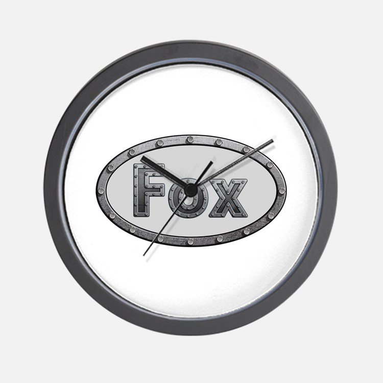 Fox Metal Oval Wall Clock