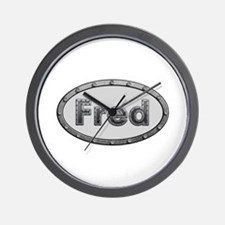 Fred Metal Oval Wall Clock