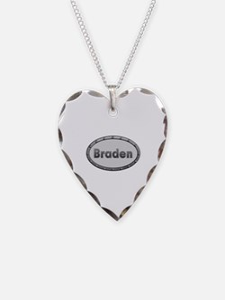 Braden Metal Oval Heart Necklace