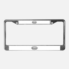Brock Metal Oval License Plate Frame