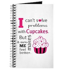 Cute, Humorous Cupcake Quote, Happiness Journal