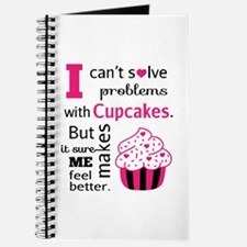 Cute, Humorous Cupcake Quote, Happiness Journal