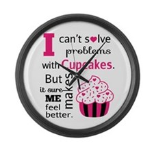 Cute, Humorous Cupcake Quote, Happiness Large Wall