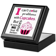 Cute, Humorous Cupcake Quote, Happiness Keepsake B