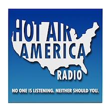 """HOT AIR AMERICA RADIO!"" Tile Coaster"