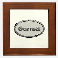 Garrett Metal Oval Framed Tile