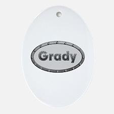 Grady Metal Oval Oval Ornament