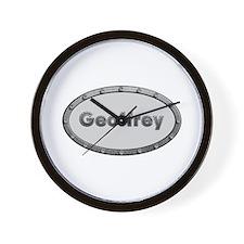 Geoffrey Metal Oval Wall Clock