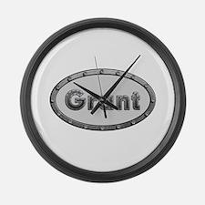 Grant Metal Oval Large Wall Clock