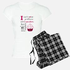 Cute, Humorous Cupcake Quote, Happiness pajamas