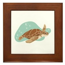 Sea Turtle Framed Tile