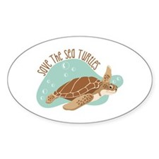 Save the Sea Turtles Decal