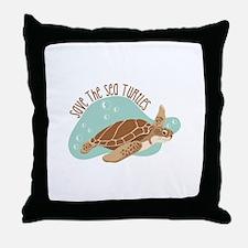Save the Sea Turtles Throw Pillow