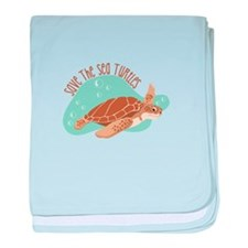 Save the Sea Turtles baby blanket