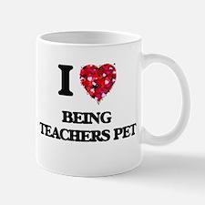 I love Being Teachers Pet Mugs