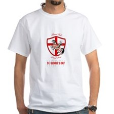 Stand Tall Happy St George Day Retro Poster T-Shir