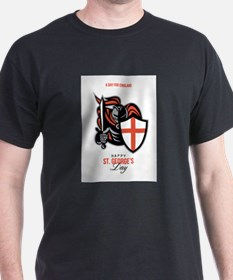 A Day for England Happy St George Greeting Card T-