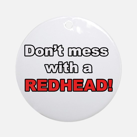 Redhead Ornament (Round)