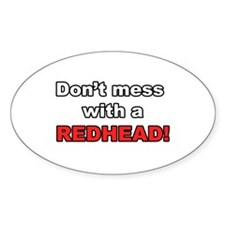 Redhead Oval Decal