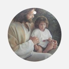 Jesus with child Round Ornament