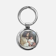 Jesus with child Round Keychain