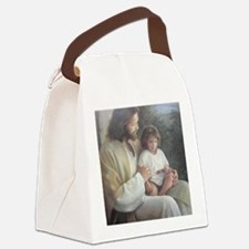 Jesus with child Canvas Lunch Bag