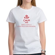 Keep Calm and Party With a Construction Manager T-
