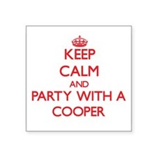 Keep Calm and Party With a Cooper Sticker