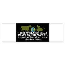 never_be_peace_wide_stickers_black Bumper Bumper Sticker