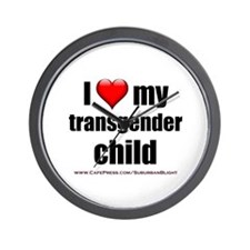 """Love My Transgender Child"" Wall Clock"