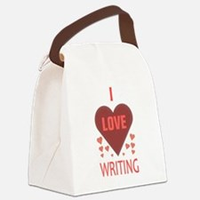 I LOVE WRITING Canvas Lunch Bag